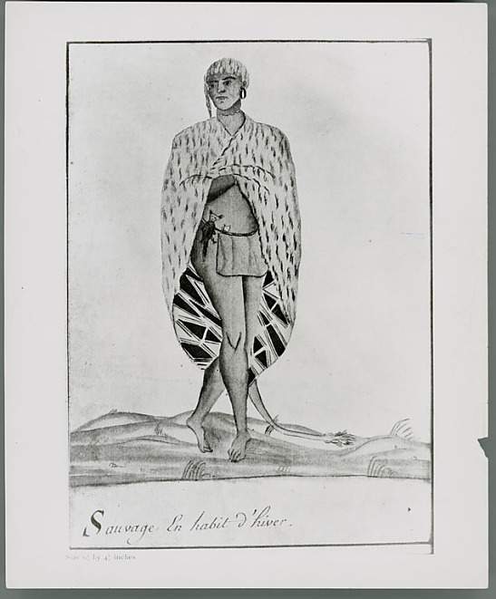 Image for Drawing of a man of lower Louisiana in winter dress 1732-35