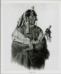 """Handeh-pahchu, a young Mandan Indian"" Mar 1834"