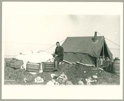 Camp at Cape Kialegak, St Lawrence Island, Alaska 1929