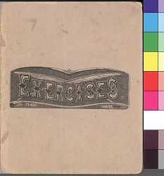Exercise book containing drawings by anonymous Kiowa artist, 1875-1878