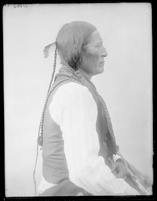 Side view of Cheyenne Indian Chief. Oklahoma