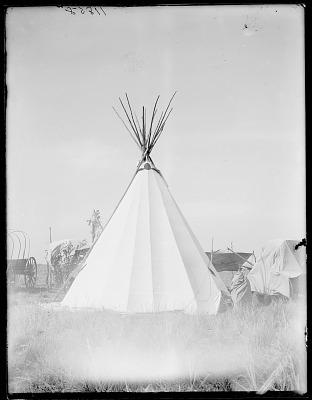 Cheyenne wigwam, Sun Dance teepee. Oklahoma 1903