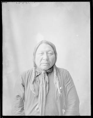 Front view of Chief Bushy Head. Oklahoma. U.S. Indian school 1904