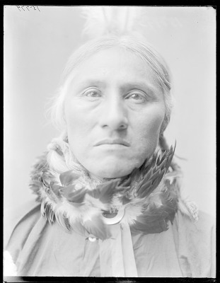Front view of Chief White Buffalo. Oklahoma. Taken at St Louis Indian school 1904