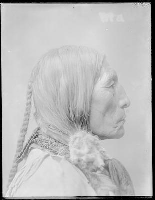 Chief Wolf Robe, side view. Oklahoma. U.S. Indian school 1904