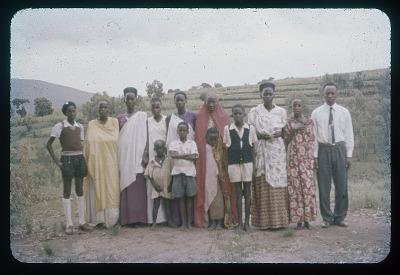 Abenengwe - Tutsi family (three generations), circa 1957