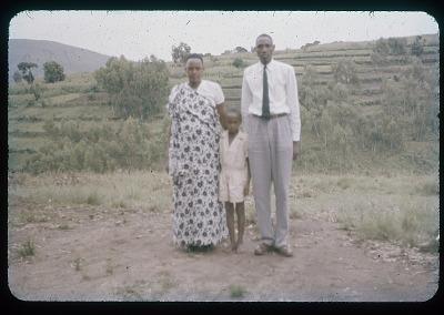 Harimenshi, wife, and son (Umwezi, ie, royal family), circa 1957