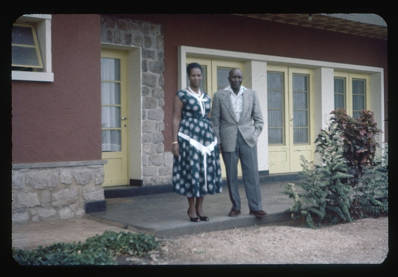Image for King and Queen of Urundi Mwambutsa and wife, circa 1957