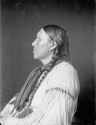 Portrait (Profile) of Nakoimens (Bear Wings), Called Charles Murphy, in Native Dress JUN 1908