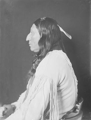 Portrait (Profile) of Honii-Vigoi (Wolf Robe) in Native Dress JAN 1908