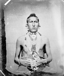 Portrait (Front) of As-Sau-Taw-Ka (White Horse) in Native Dress with Ornaments 1869