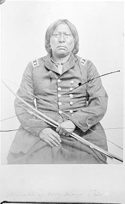 Portrait of Set-Imkia, Stumbling Bear, Holding Bow and Arrow 1870