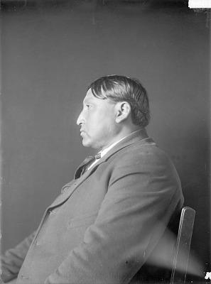 Portrait (Profile) of Emhaua (Rescuer), Called Delos K. Lone Wolf 1909