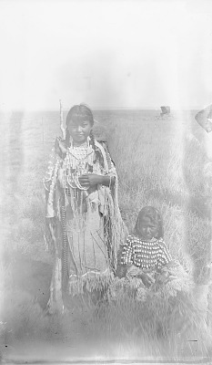 Do-Pe and Girl, Both in Native Dress with Ornaments 1892