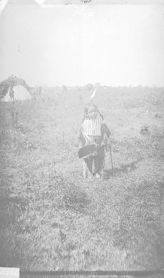 Boy in Native Dress with Breastplate 1892