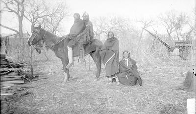 Old Man Turkey and Tay-Kaun on Horseback, with [Botone] On Ground 1891