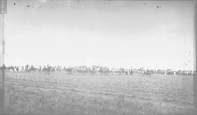 Group on Horseback and in Wagons 1891