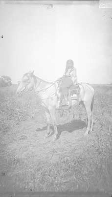 Kiowa boys - group of two, with bow and arrows