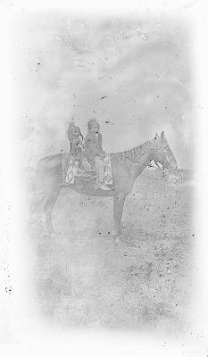 Kiowa boys on horseback, Kiowa Reservation, Oklahoma 1892
