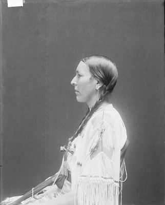 Portrait (Profile) of Wife of Emhaua (Rescuer) in Self-Made Native Dress with Ornaments MAR 1913