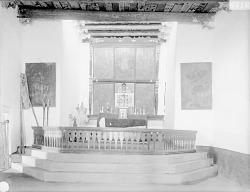 Interior of Adobe Church Showing Altar 1899