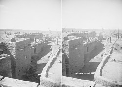 Western Court of Pueblo with Beehive Ovens 1879