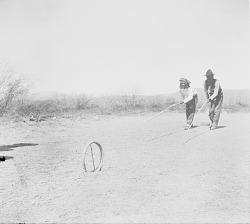 [The hoop and pole game, San Carlos Reservation, Arizona]