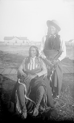 [Tsayaditl-ti or White Man, head chief in 1893 (seated) and Daveko or Recognizes Enemies, subchief and medicine man (standing)] 1893-4
