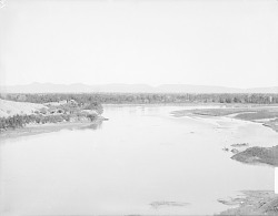 Small Group of Houses Near Juncture of Two Rivers 1900