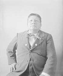 Portrait (Front) of Wa-Zha-Zhe Wa-Da-I Ga (Playful Osage) MAR 1897