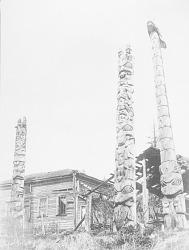 [Totem poles at Howkan, southeastern Alaska] ca. 1922