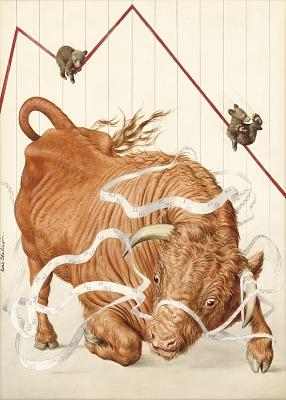 Wall Street Bull 1958
