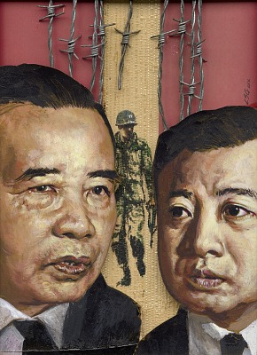 Souvanna Phouma and Norodom Sihanouk