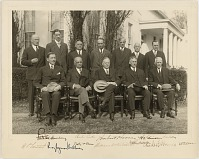 Image of Herbert Hoover and his Cabinet