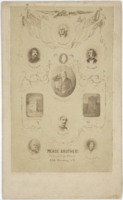 Meade Brothers frontispiece for albums