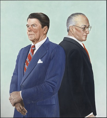 Ronald Reagan and Yuri Andropov