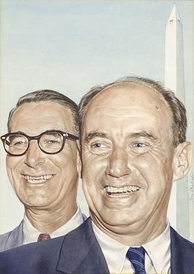 Adlai Stevenson and Estes Kefauver