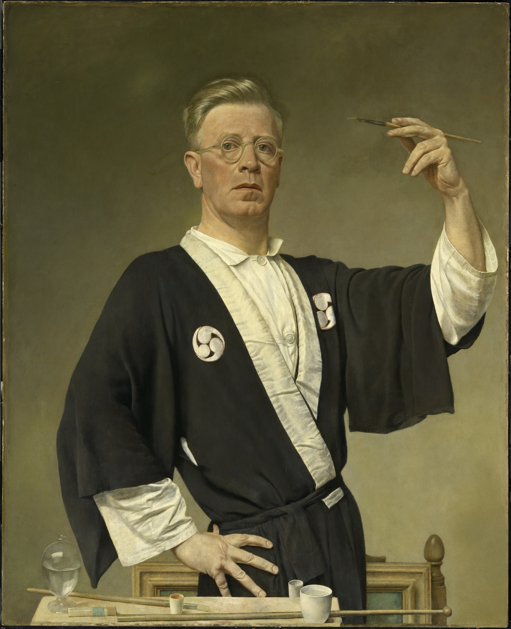 Man in a Black Robe (Victor Hammer Self-Portrait)