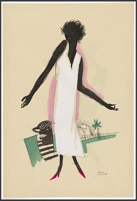 Le Tumulte Noir/Woman in White Dress
