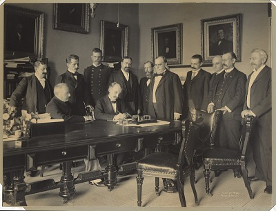 Signing of the Peace Protocol