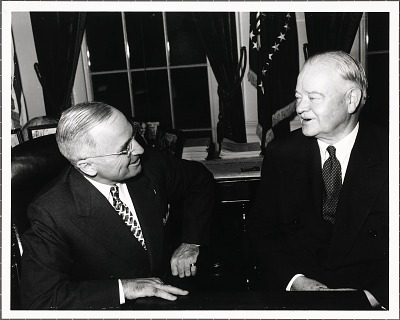 Harry S Truman and Herbert Hoover
