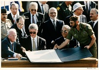 Image of Peace Signing on the Jordan River