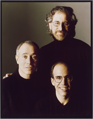 Steven Spielberg, Jeffrey Katzenberg and David Geffen