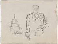 Preparatory Study for Portrait of Lyndon B. Johnson