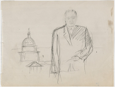 Preparatory Study for Portrait of Lyndon B. Johnson