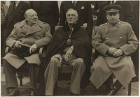Churchill, Roosevelt and Stalin at Yalta