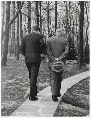 John F. Kennedy and Dwight D. Eisenhower