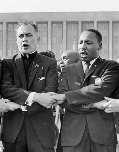 images for Rev. Theodore M. Hesburgh and Martin Luther King, Jr.