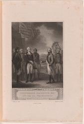 """The Columbiad"" -- Cornwallis Resigning his Sword to Washington"