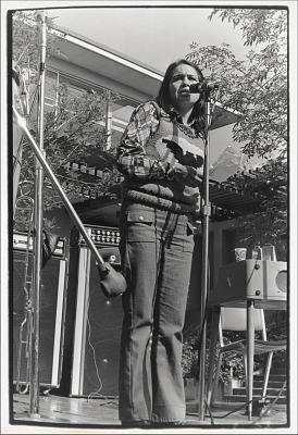 Dolores Huerta speaking at a rally